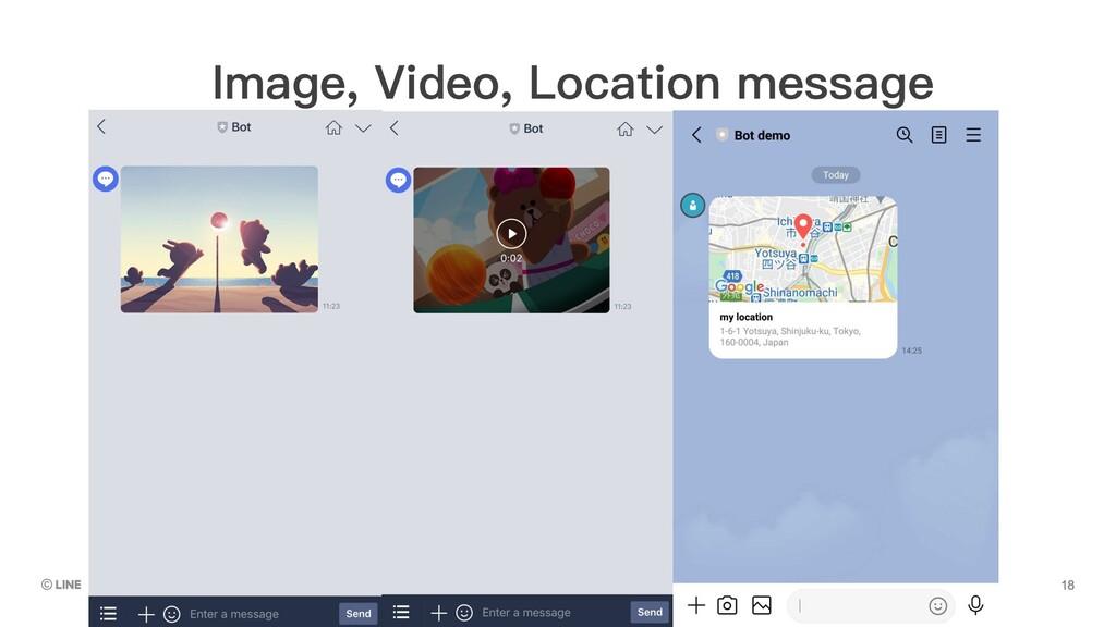 Image, Video, Location message