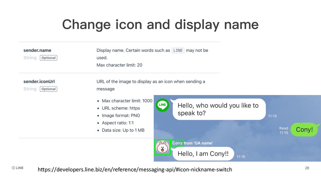 Change icon and display name h5ps://developers....