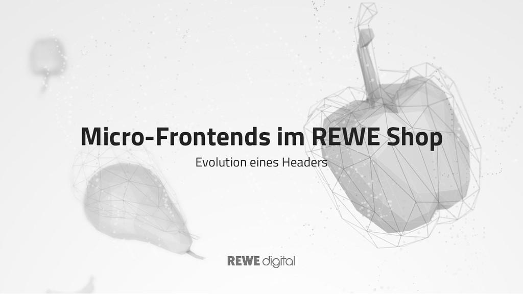 Micro-Frontends im REWE Shop Evolution eines He...