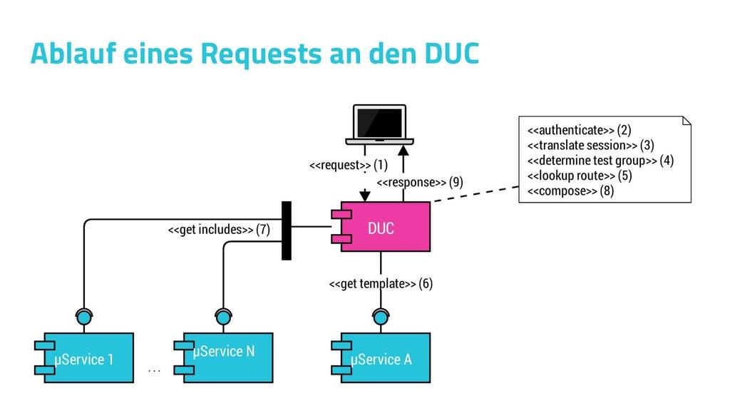 Ablauf eines Requests an den DUC
