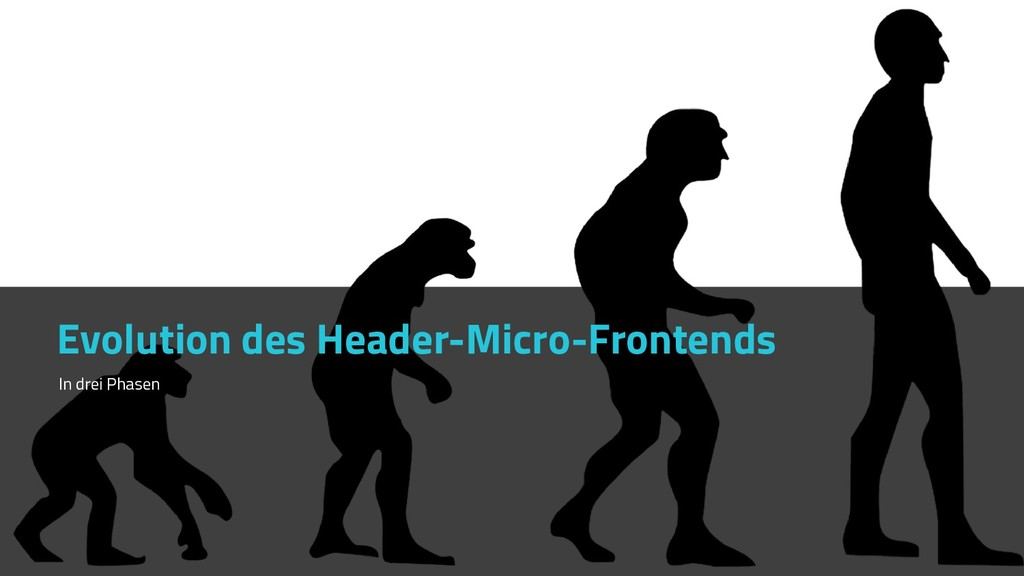 Evolution des Header-Micro-Frontends In drei Ph...