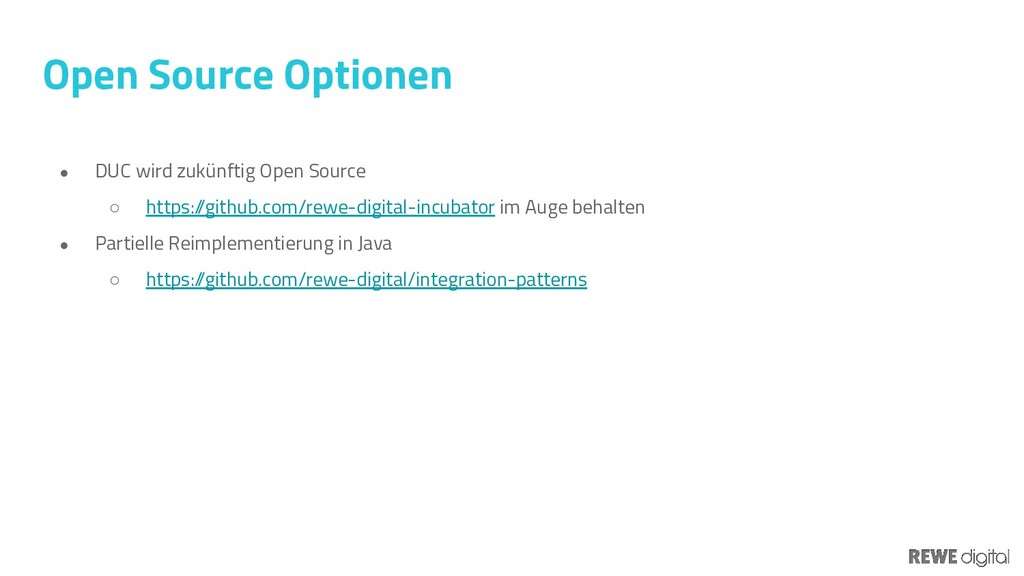 Open Source Optionen ● DUC wird zukünftig Open ...