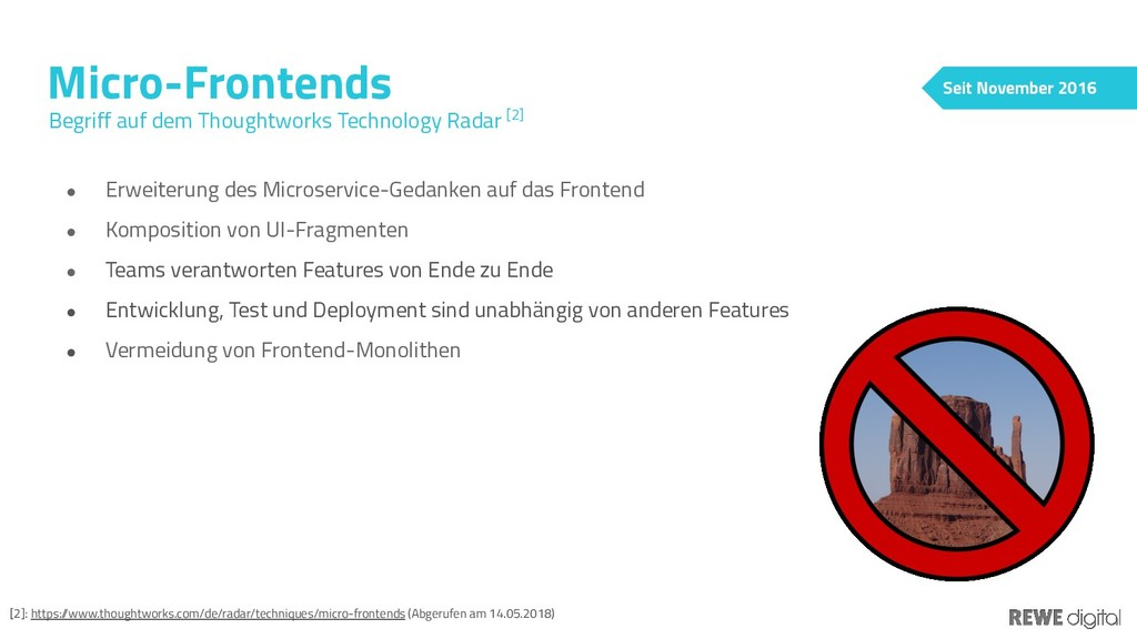 Micro-Frontends Begriff auf dem Thoughtworks Te...