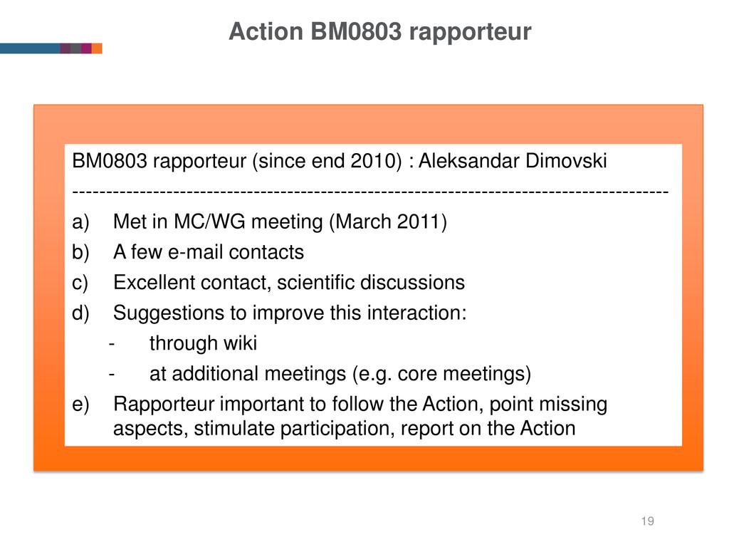 Action BM0803 rapporteur BM0803 rapporteur (sin...