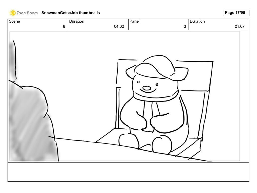 Scene 8 Duration 04:02 Panel 3 Duration 01:07 S...
