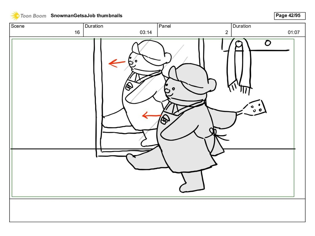 Scene 16 Duration 03:14 Panel 2 Duration 01:07 ...