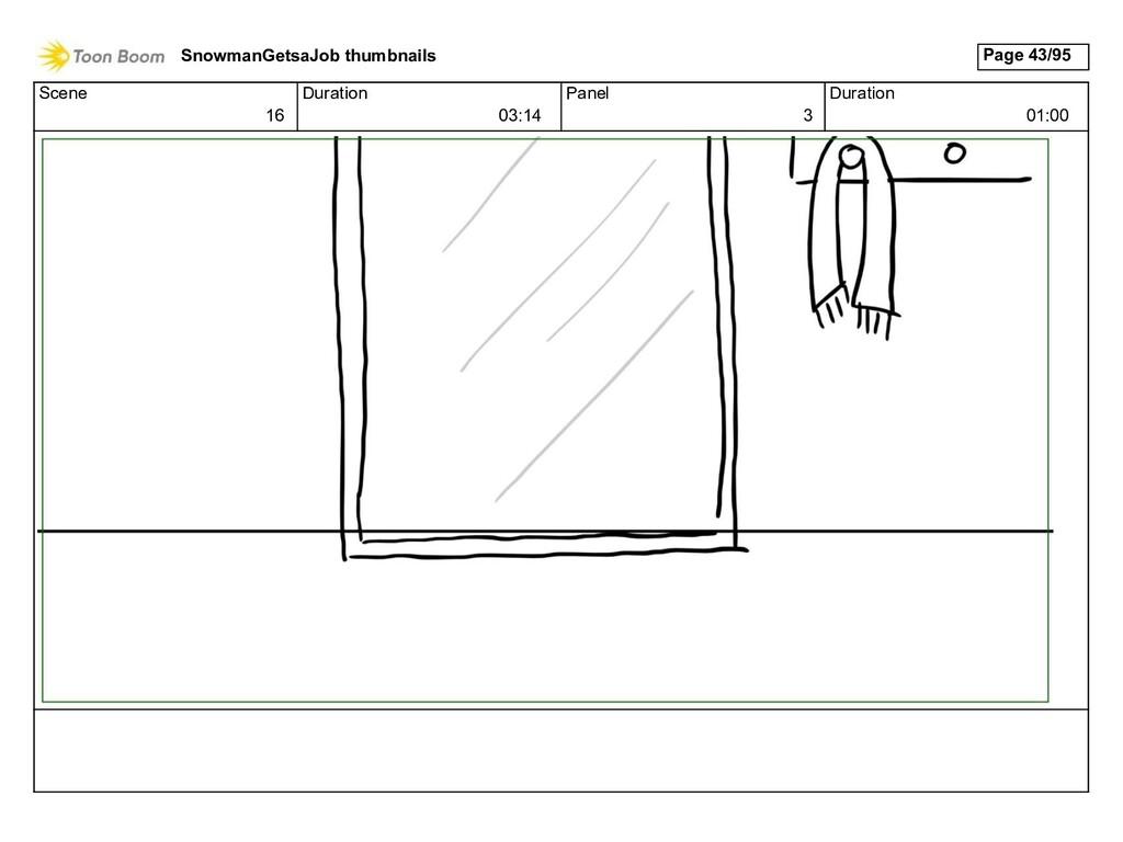 Scene 16 Duration 03:14 Panel 3 Duration 01:00 ...