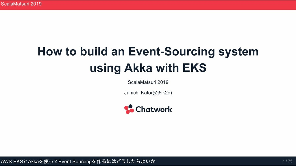 How to build an Event­Sourcing system using Akk...
