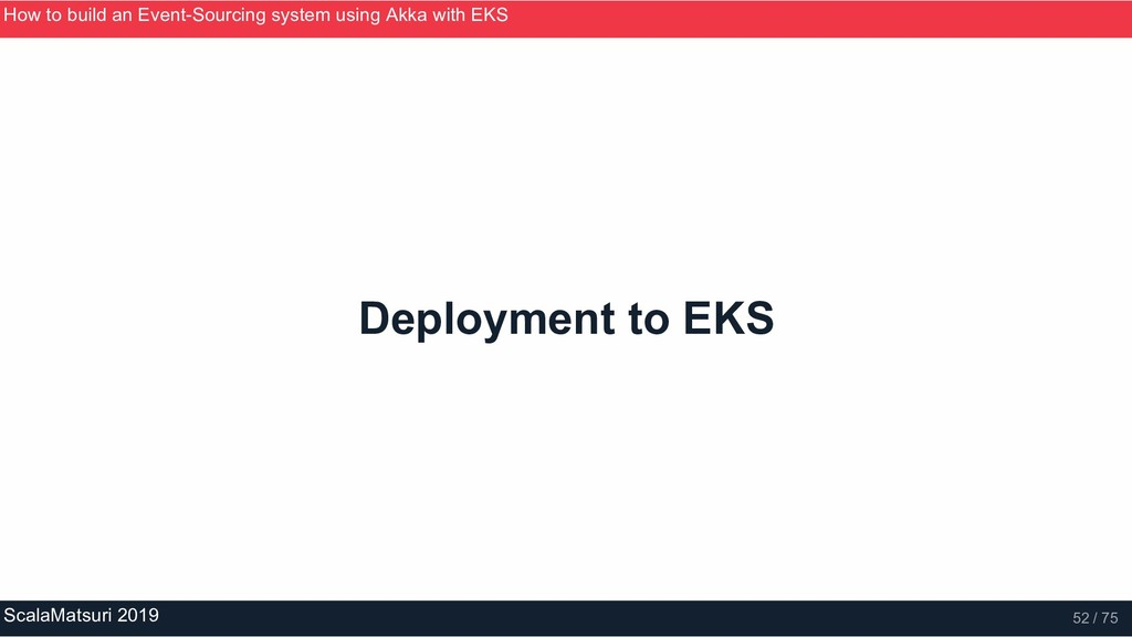 Deployment to EKS How to build an Event­Sourcin...