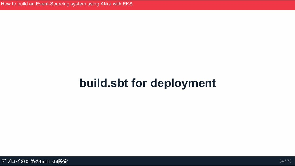 build.sbt for deployment How to build an Event­...