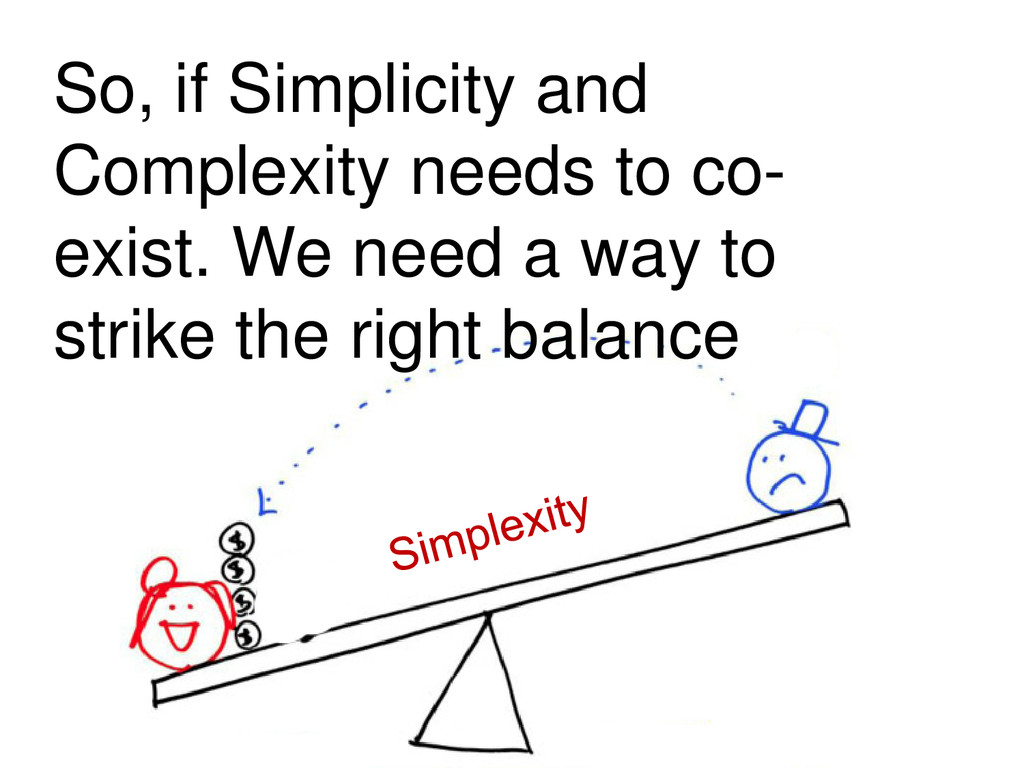 So, if Simplicity and Complexity needs to co- e...