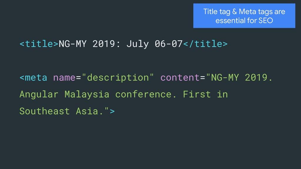 <title>NG-MY 2019: July 06-07</title> <meta nam...