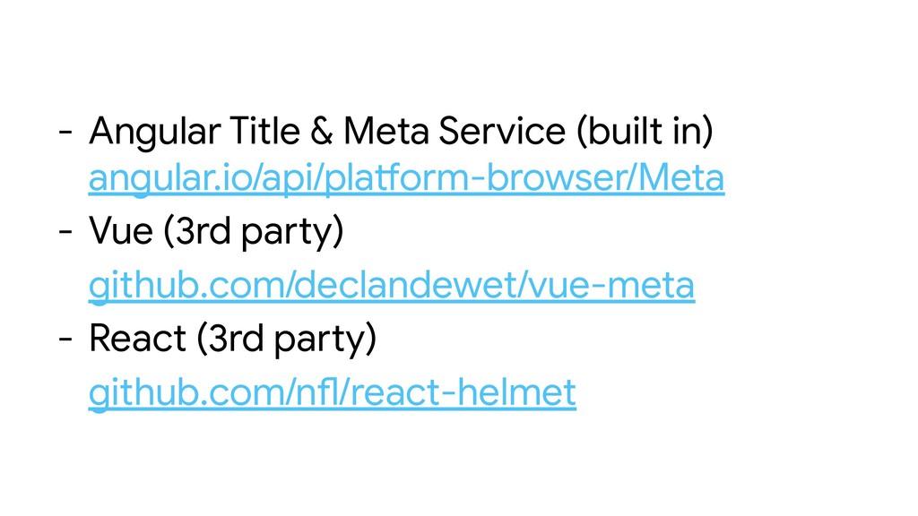 - Angular Title & Meta Service (built in) angul...