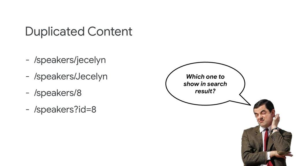 Duplicated Content - /speakers/jecelyn - /speak...