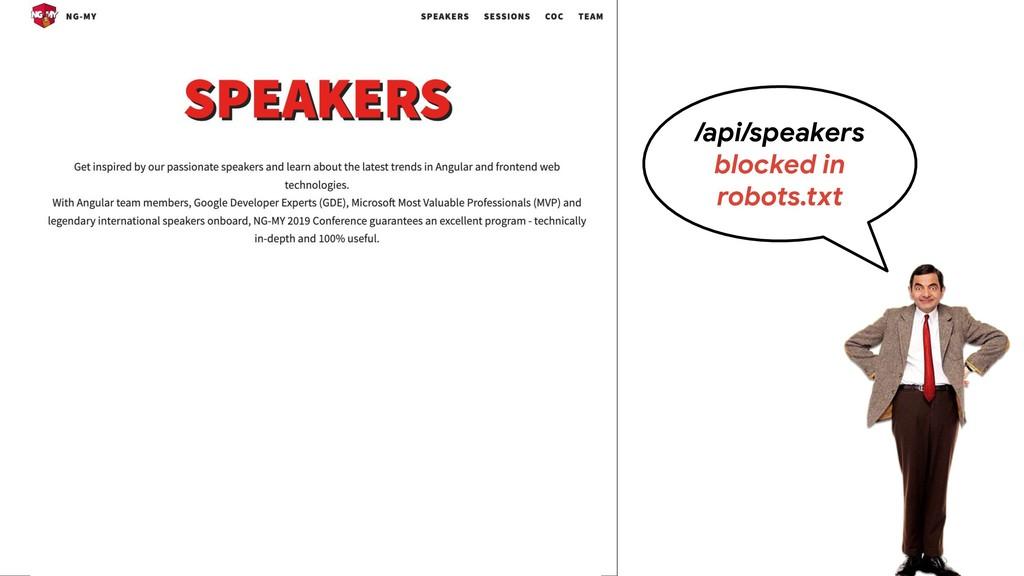 /api/speakers blocked in robots.txt