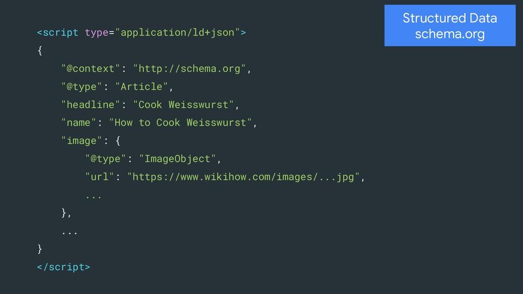 """Structured Data schema.org <script type=""""applic..."""