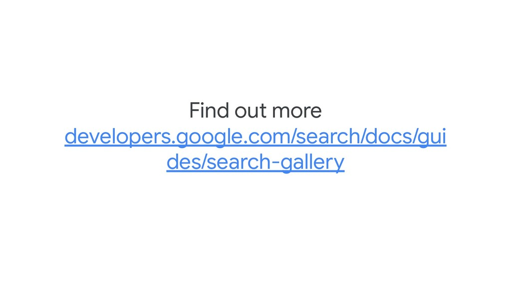 Find out more developers.google.com/search/docs...
