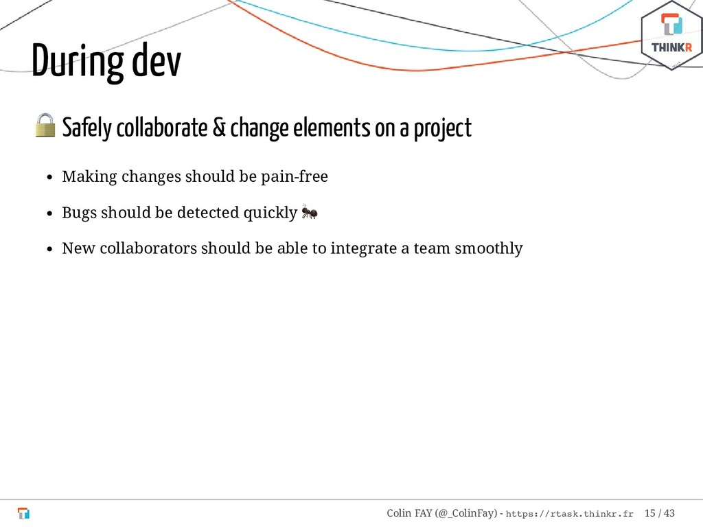 During dev  Safely collaborate & change element...