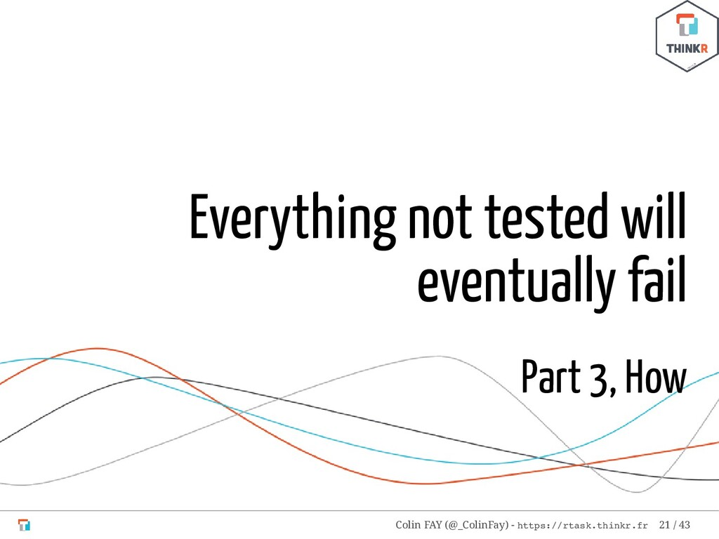 Everything not tested will eventually fail Part...