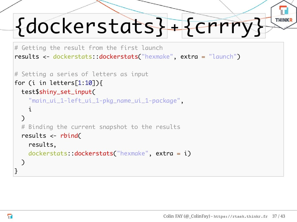 {dockerstats} + {crrry} # Getting the result fr...