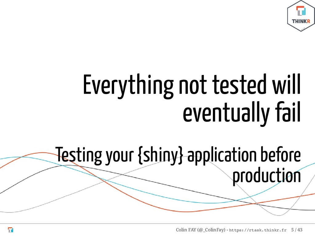 Everything not tested will eventually fail Test...