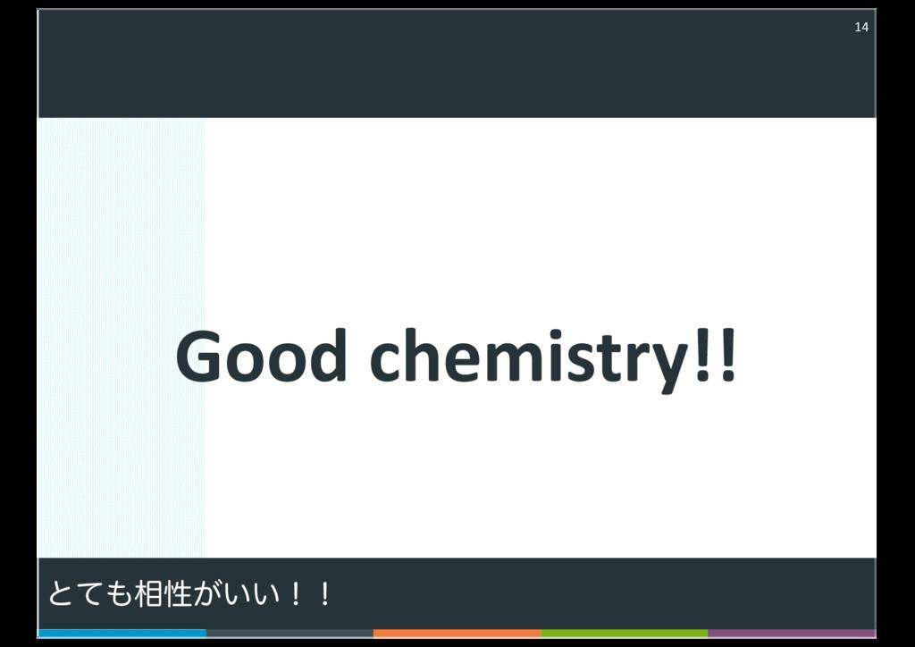 Good chemistry!! 14 ͱͯ૬ੑ͕͍͍ʂʂ