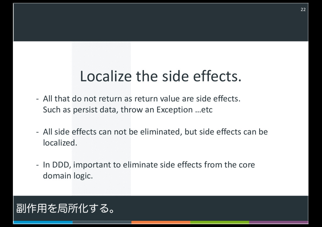 Localize the side effects. 22 - All that do not...