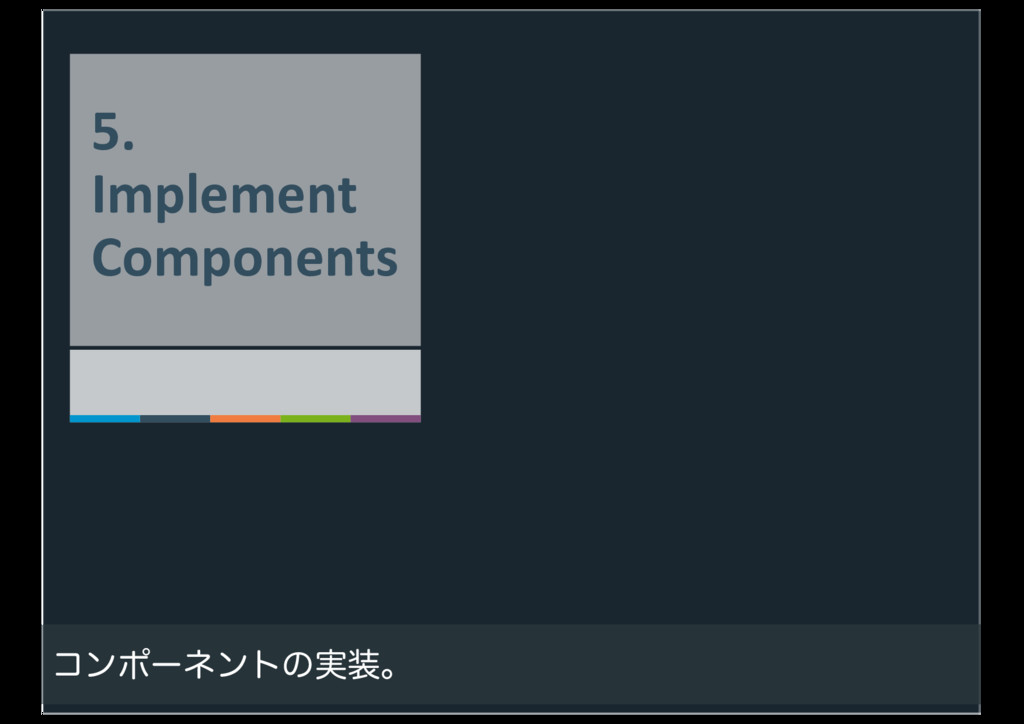 48 5. Implement Components ίϯϙʔωϯτͷ࣮૷ɻ