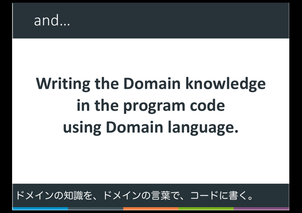 and… 8 Writing the Domain knowledge in the prog...