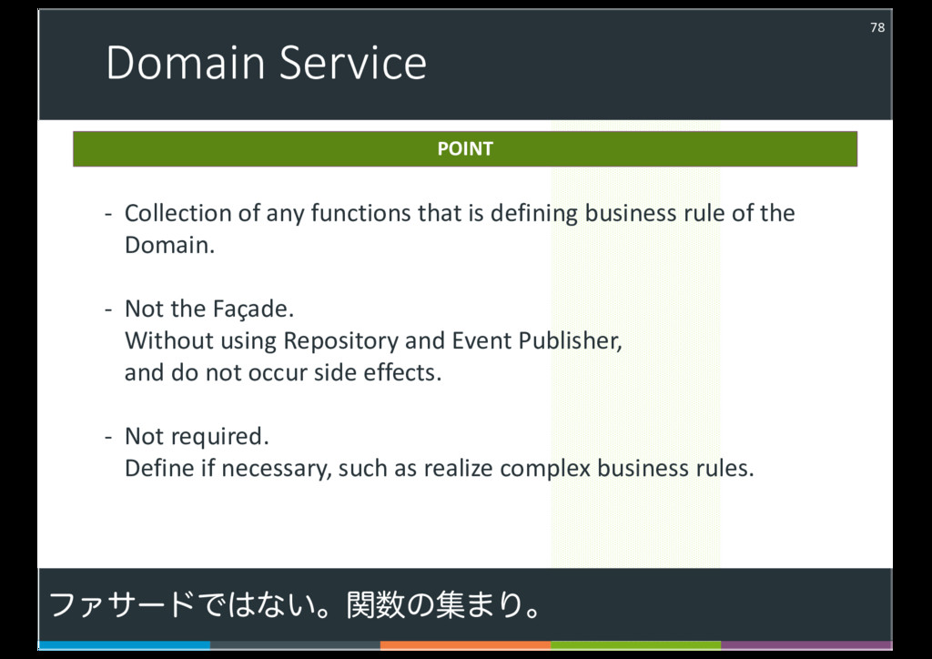 Domain Service 78 - Collection of any functions...