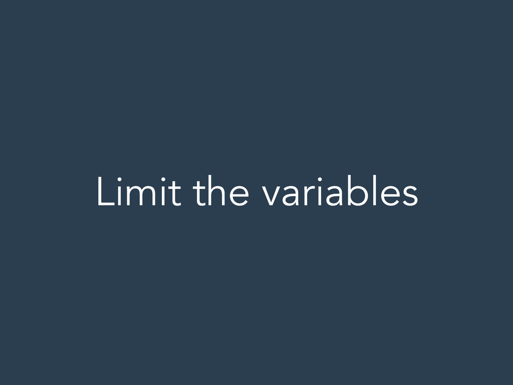 Limit the variables