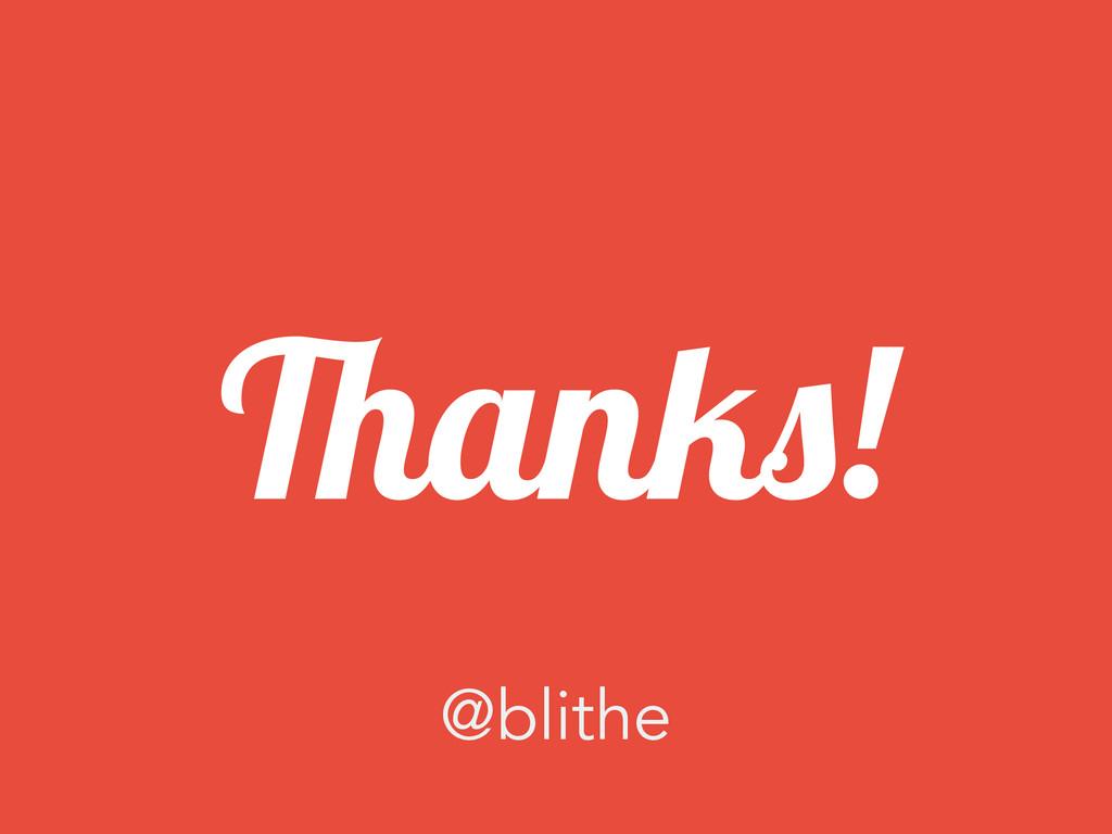 Thanks! @blithe