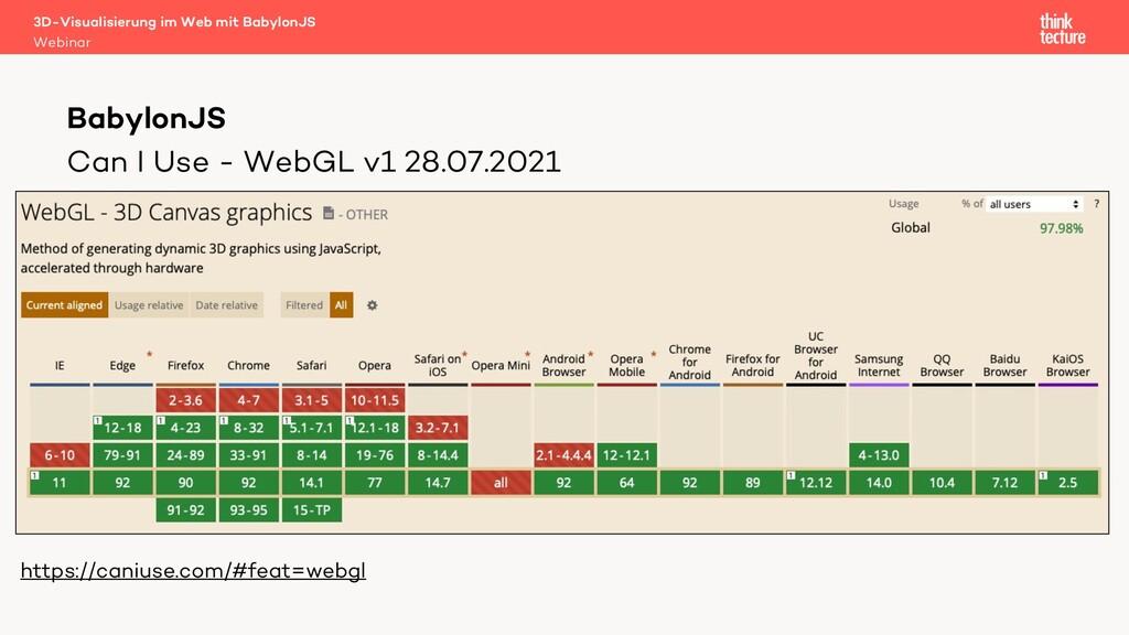 Can I Use - WebGL v1 28.07.2021 • CAN I USE SCR...