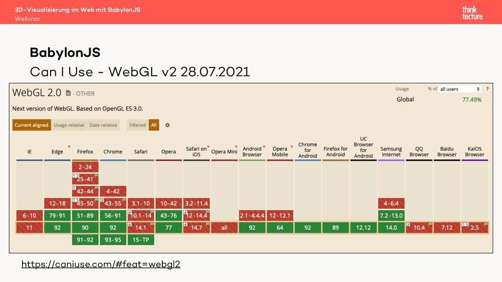 Can I Use - WebGL v2 28.07.2021 • CAN I USE SCR...