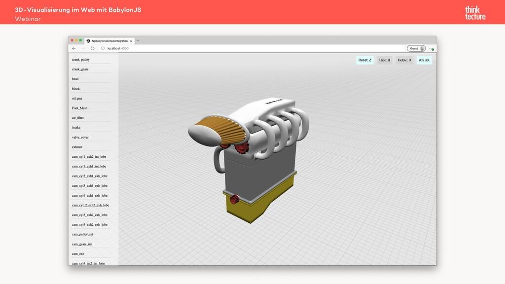 3D-Visualisierung im Web mit BabylonJS Webinar