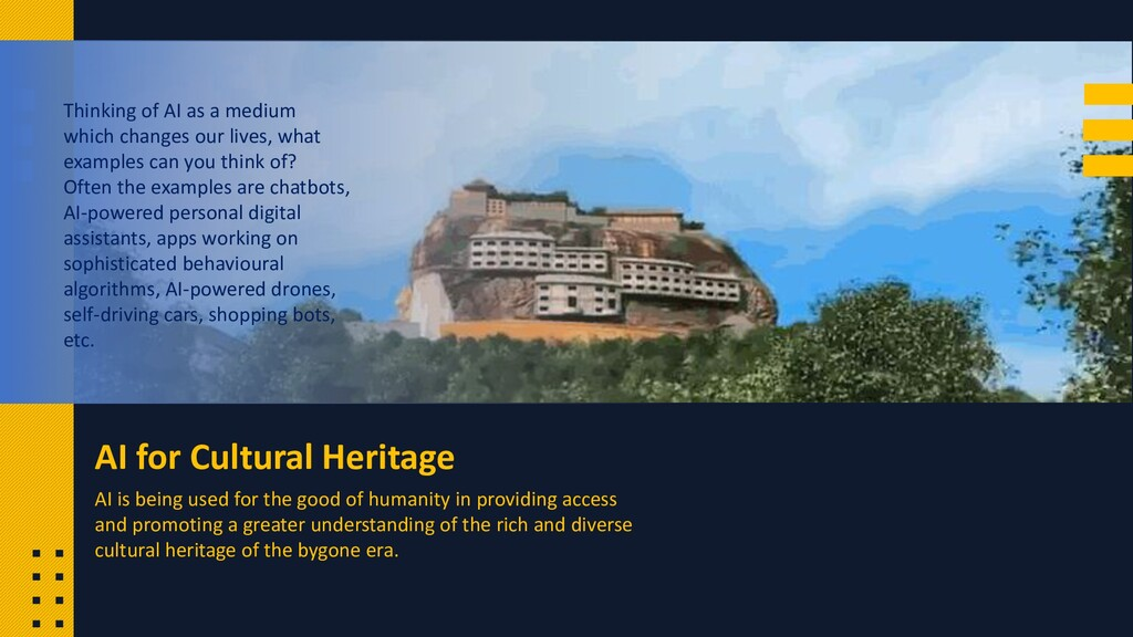 AI for Cultural Heritage Thinking of AI as a me...