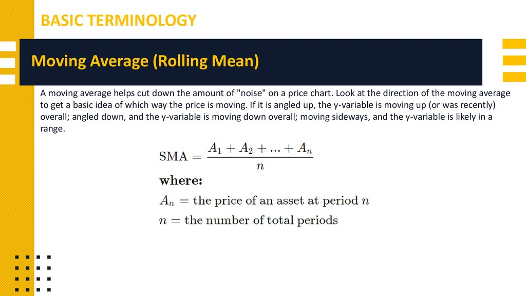 Moving Average (Rolling Mean) A moving average ...
