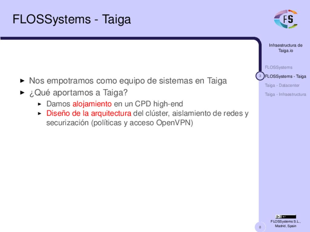 8 Infraestructura de Taiga.io FLOSSystems 3 FLO...