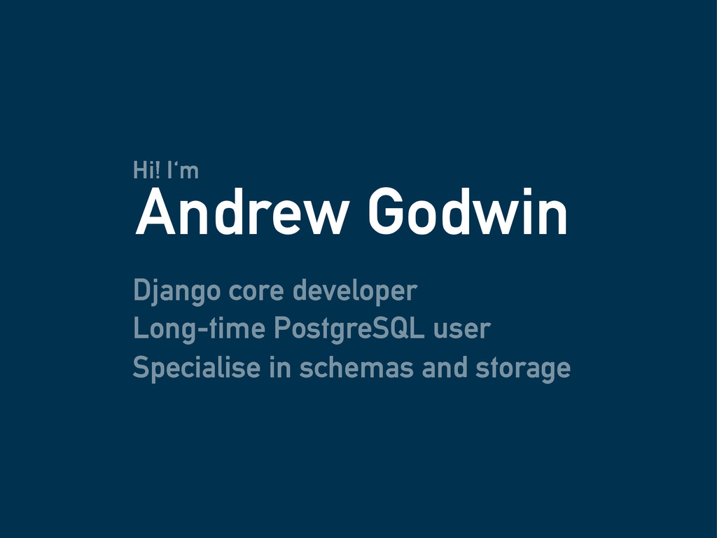 Django core developer Andrew Godwin Long-time P...