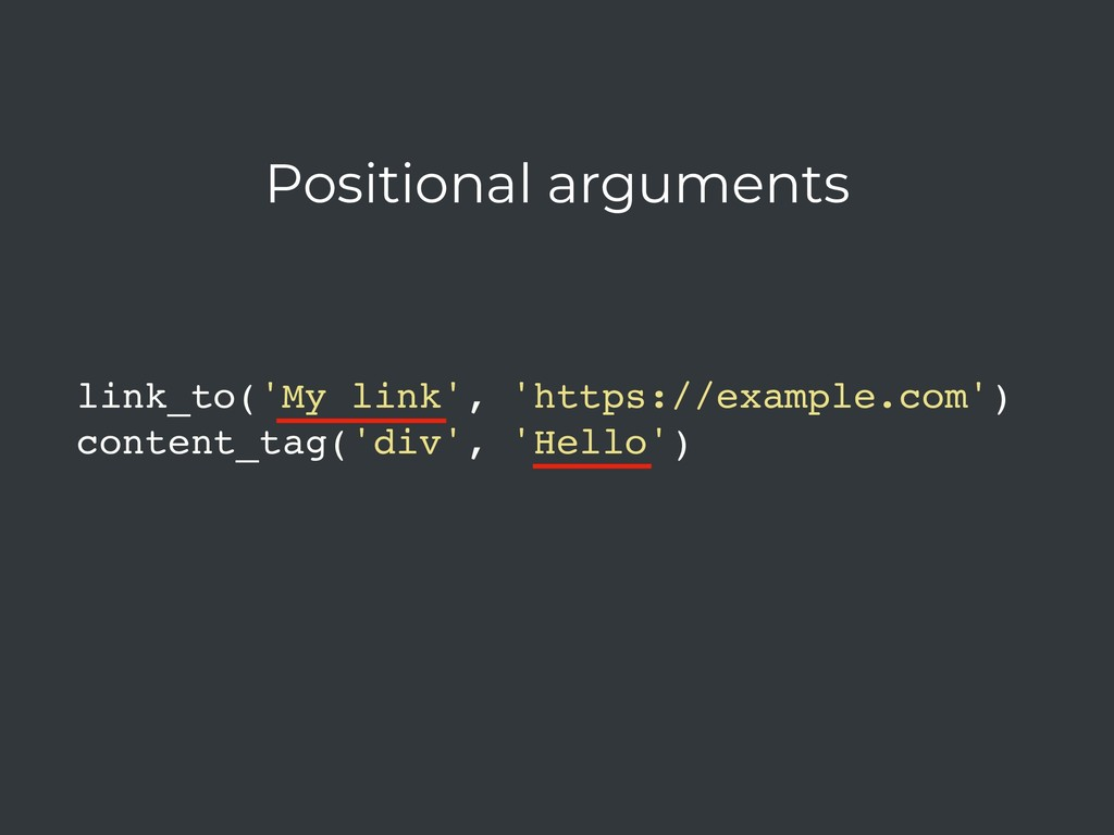 link_to('My link', 'https://example.com') conte...