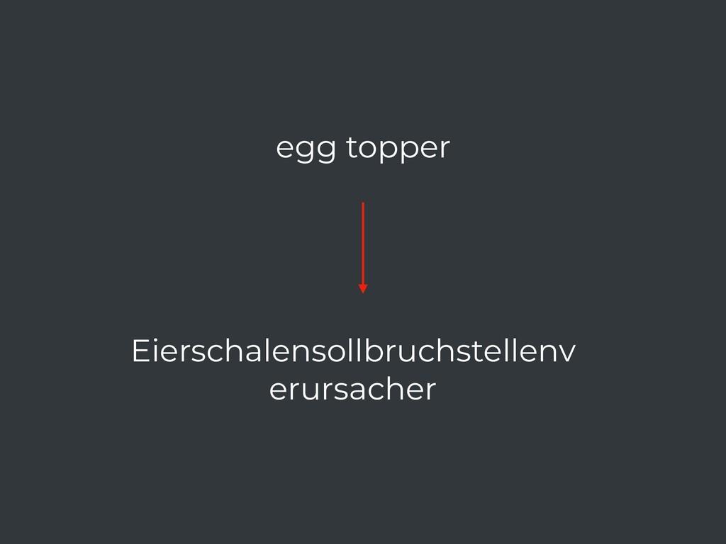 egg topper Eierschalensollbruchstellenv erursac...