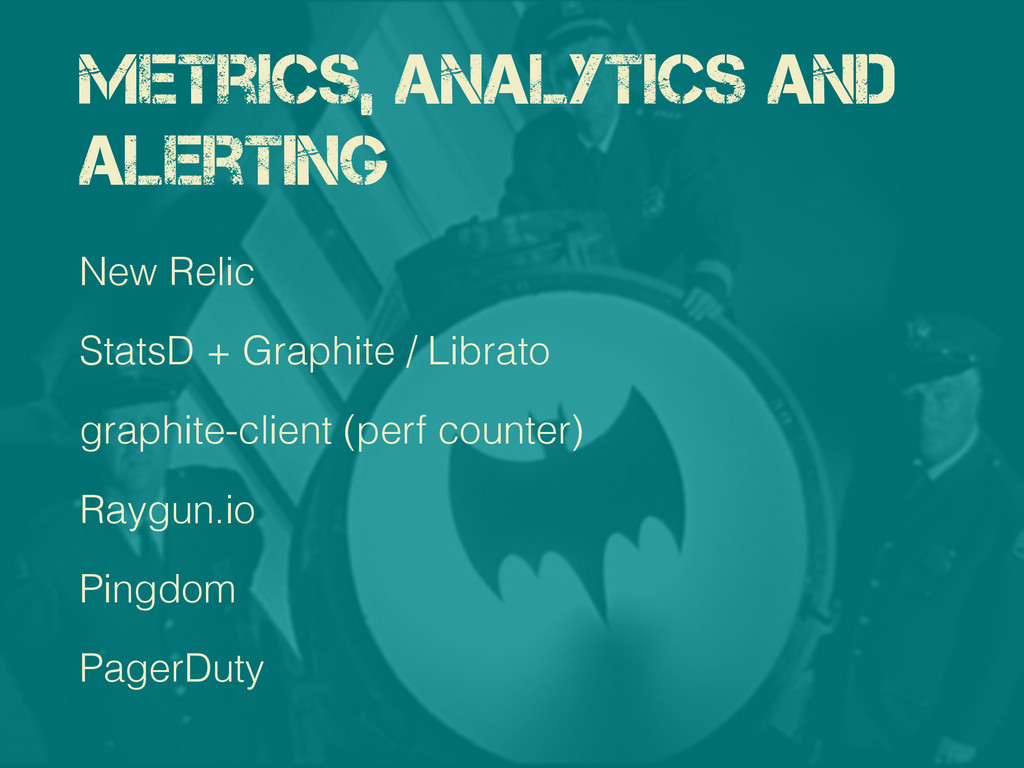 Metrics, Analytics and Alerting New Relic Stats...