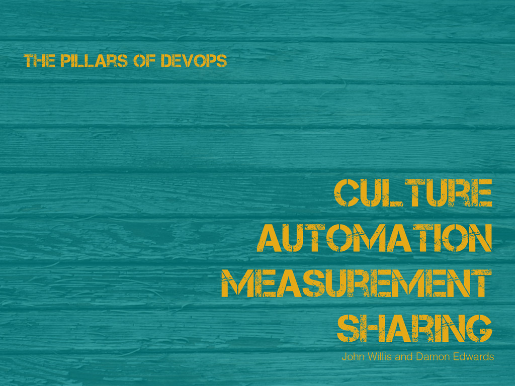 Culture Automation Measurement Sharing The Pill...