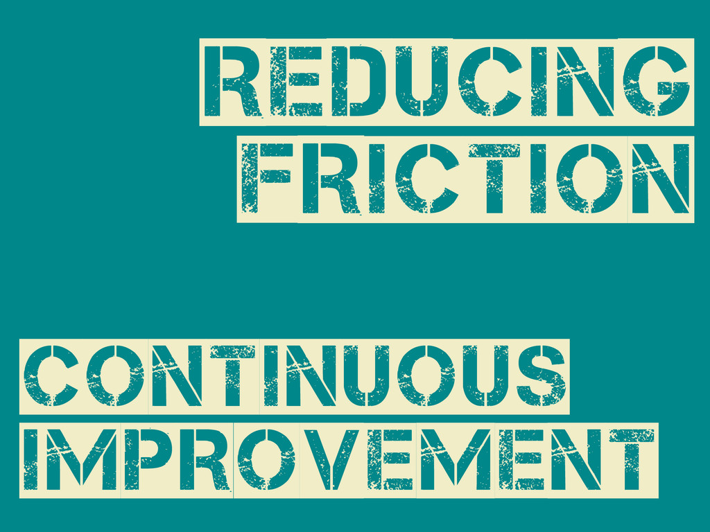 Continuous Improvement Reducing Friction