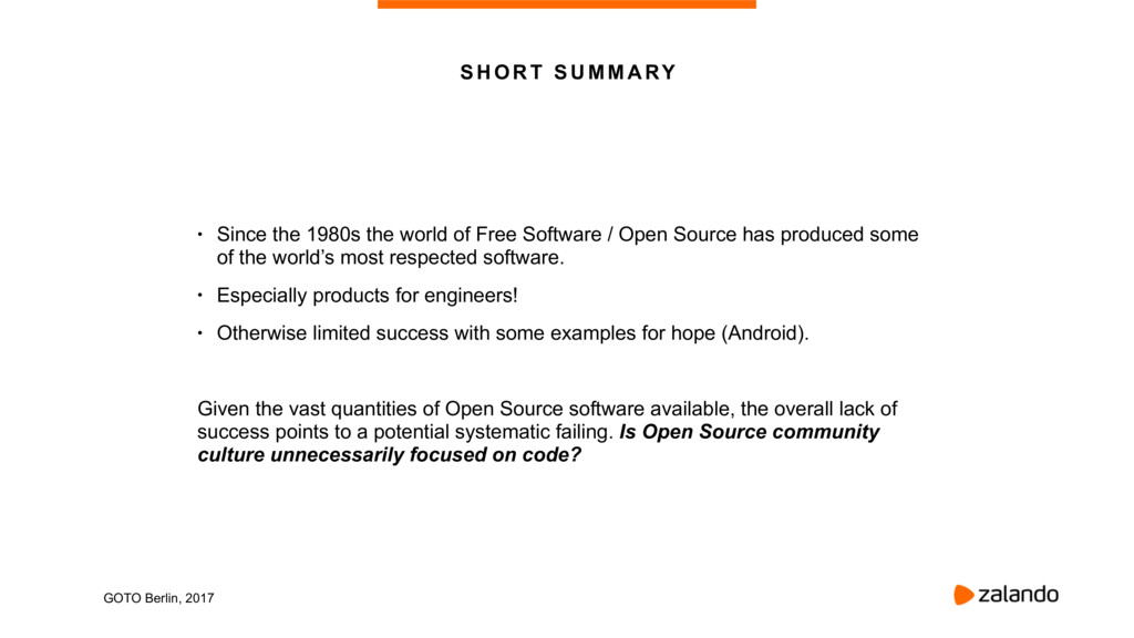 • Since the 1980s the world of Free Software / ...