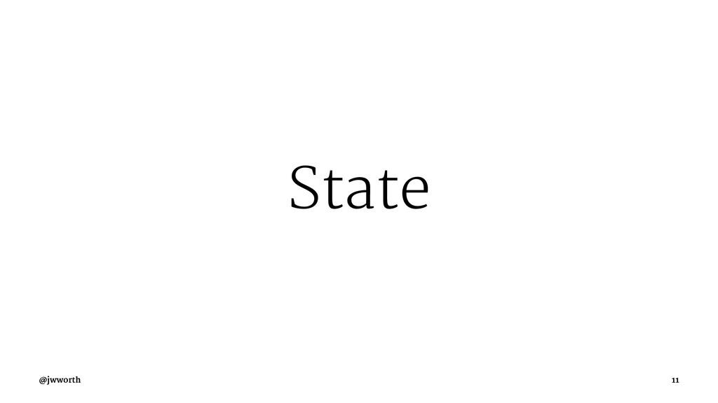 State @jwworth 11