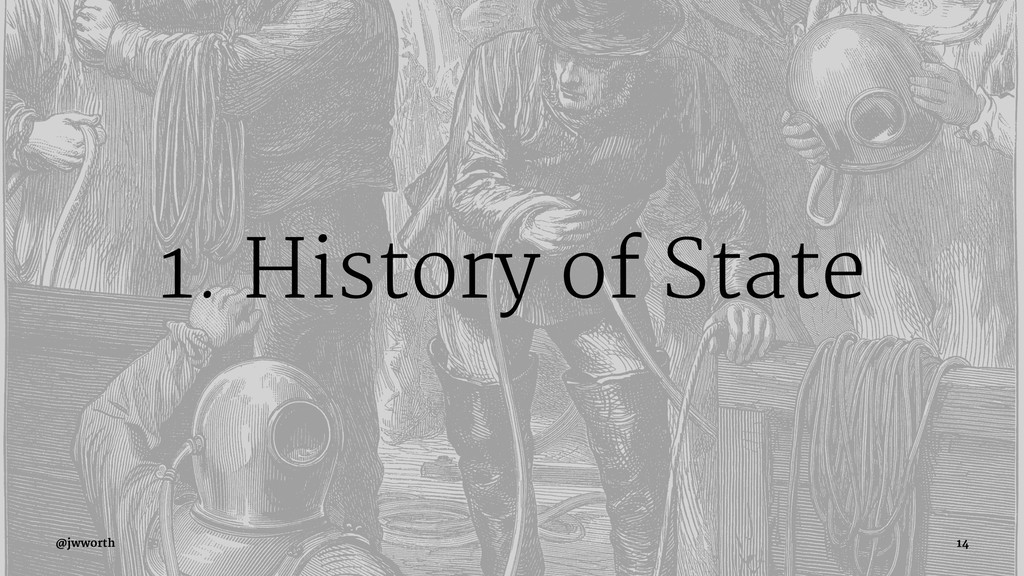 1. History of State @jwworth 14