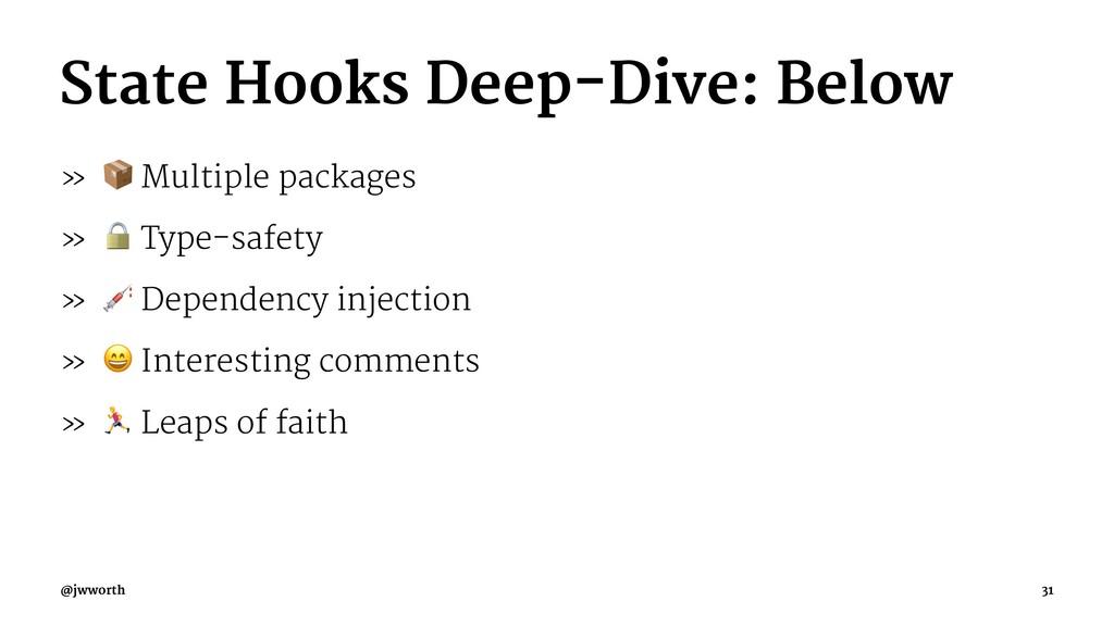 State Hooks Deep-Dive: Below » ! Multiple packa...