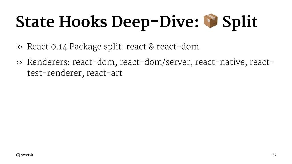 State Hooks Deep-Dive: Split » React 0.14 Packa...