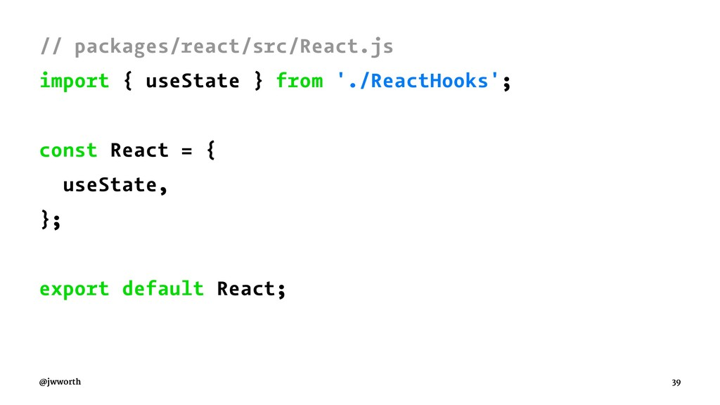 // packages/react/src/React.js import { useStat...